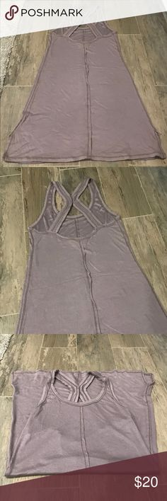 Intimately Free people long tank top Intimately Free people long tank top. Size small. Super soft. Nice light material. Has an unfinished seam look around the outside on straps and bottom. No rips or stains Free People Intimates & Sleepwear