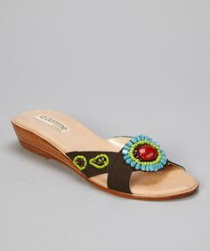 Take a look at this Brown Isabelle Slide by la pomme on #zulily today!