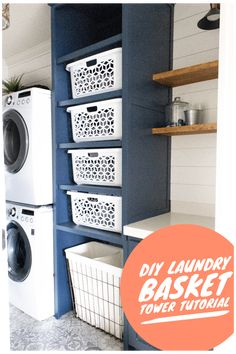 laundry basket -DIY laundry basket - Space-saving ceiling-mounted clothes drying rack with remote control. IKEA MARJUN Blackout curtains, 1 pair Laundry Baskets new west pattern five Tile Awesome 39 Perfect Laundry Room Designs Ideas For Small Space. Laundry Basket Storage, Mudroom Laundry Room, Laundry Room Layouts, Laundry Room Remodel, Laundry Decor, Small Laundry Rooms, Laundry Room Design, Laundry In Bathroom, Laundry Drying