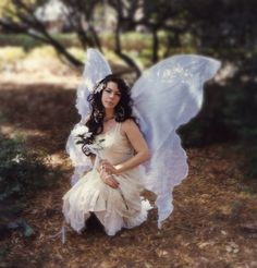 Huge Moonbeam White OPAL FAIRY WINGS Costume adult xl dress up goddess wicca angel gypsy steampunk Toothfairy beloved Gift Lover. $70.00, via Etsy.