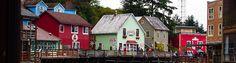 Alaskan risteilyn ensimmäisenä maapäivänä pääsimme tutustumaan Ketchikaniin. Kaupunki on tunnettu lohestaan ja elokuussa oli lohennousu, joten sitä oli paljon! Ihan kaupungin keskustassa kiemurtele… Alaska, Cabin, Mansions, House Styles, Home Decor, Decoration Home, Room Decor, Fancy Houses, Cottage