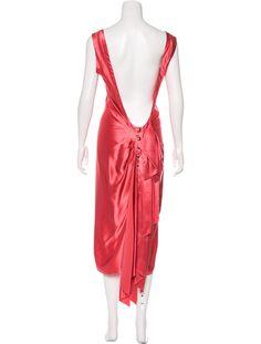 Lanvin Silk Midi Dress - Clothing - LAN78206 | The RealReal