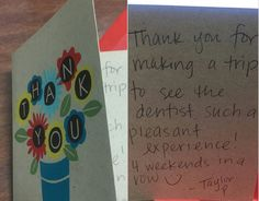 What does a thank you card/letter means?