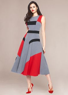 Colorblock Midi Dress                                                                                                                                                      More