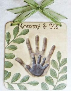 Mommy and Me Handprint Art   Creative DIY Mother's Day Gifts Ideas   Thoughtful Homemade Gifts for Mom. Handmade Ideas from Daughter, Son, Kids, Teens   Unique, Easy, Cheap Do It Yourself Crafts To Make for Mothers Day, complete with tutorials and instructions http://thrillbites.com/diy-mothers-day-gift-ideas