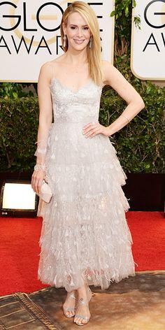 Sarah Paulson - 2014 Golden Globes: Red Carpet Arrivals - Golden Globes 2014 - Celebrity - InStyle