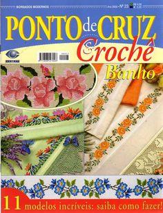 Cross stitch and crochet magazine Cross Stitch Magazines, Cross Stitch Books, Cross Stitching, Cross Stitch Embroidery, Crochet Magazine, Crochet Books, Needlework, Crafts, Palestine