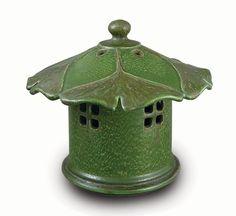 Ginkgo Lantern- Ephraim Faience Pottery | Ginkgo | Pinterest