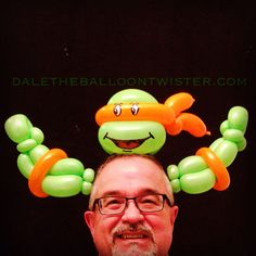 #TMNT Ninja Turtle Hairband.  Find a good twister and hire for your party.  This is so darn cute.