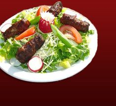 Mici with salad