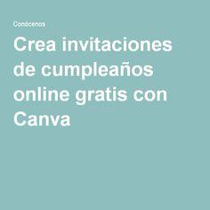 Crea invitaciones de cumpleaños online gratis con Canva
