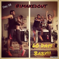 """""""Day 58 - we completed Insanity Max 30 together!!! Feels good to finish out our commitment! #365 #imaxedout #fitmom #fitfamily #stayathomemom"""""""