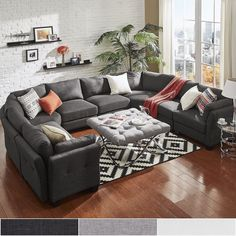 UShaped Sectional Square Coffee Tableottoman Basement Love - Coffee table for u shaped sectional