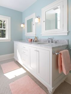 Traditional Blue Bathroom Design Pictures Remodel Decor And Ideas Page 5