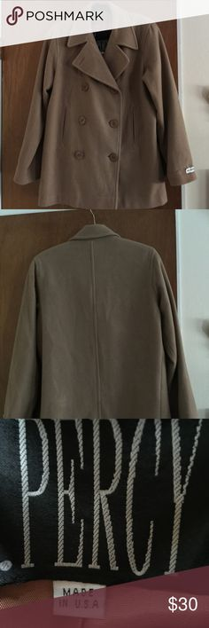 Wool Pea Coat Size 6, great fall / winter coat. First picture shows more of the true color. 2nd picture looks darker. J Percy Jackets & Coats Pea Coats
