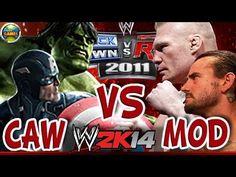 WWE CAW [Hulk-Capitão América] vs. MOD [Brock Lesnar-CM Punk] SvR 2011-MOD 2K14 #PS2