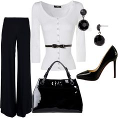 perfect work outfit...obv. I love the blacks and whites :)