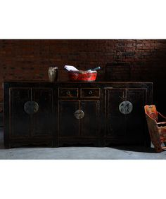 qing art - what would we do with a sideboard though?  too formal?  Chongqing Sideboard Black - Chinese Furniture Solid Oak Sideboard with Cupboards and Drawers [] - £1,350.00 : Qing Art - Chinese Furniture, Soft Furnishings, Lighting, Contemporary Oriental Interiors