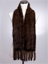 Womens Knitted Farm Mink Fur Soft Scarf Cape Stole Shawl Wrap New Selling Winter