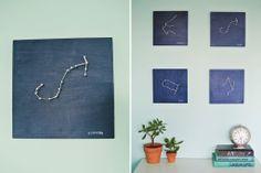 Maak een kunstwerk met jouw sterrenbeeld !