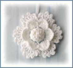 crochet flower snowflake  http://www.etsy.com/shop/CraftsbySigita?ref=si_shop