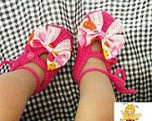 Handmade Crochet Baby Shoes Crocheting Baby Sandals Woven Boots. ON SALES NOW!!