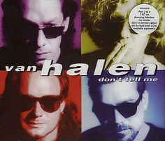 """For Sale - Van Halen Don't Tell Me - Part 2 UK  CD single (CD5 / 5"""") - See this and 250,000 other rare & vintage vinyl records, singles, LPs & CDs at http://eil.com"""