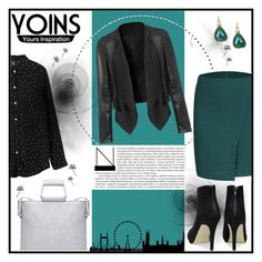 """""""Yoins Yoins Cropped Leather Biker Jacket"""" by lialondon ❤ liked on Polyvore featuring jcp, women's clothing, women's fashion, women, female, woman, misses and juniors"""