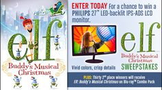 Enter Elf: Buddy's Musical Christmas Sweeps to win a Philips Monitor