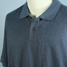 NEW David Taylor Collection Mens L Blue Easy Care No Roll Collar Golf Shirt NWT #DavidTaylor #PoloRugby