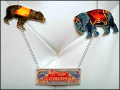 Handmade 'Take Me To The Circus' Necklace by BakedMemes on Etsy, £20.00