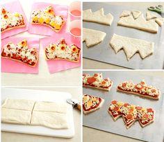 princess-tiara-shaped-pizzas-party-food