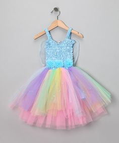 Take a look at this Light Blue Rainbow Ava Dress - Girls by Fairy Dreams on #zulily today!