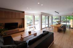 リビング Home Room Design, Home Interior Design, House Design, Tv Console Design, Japanese House, House Rooms, Contemporary Interior, Home Living Room, Furniture Decor