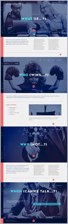 Leading North v2 by Michal Wierzbicki, via Behance #webdesign #UI