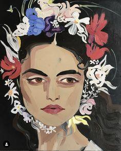 Art in Fashion: How Fashion Illustration Is Making Modern Day Headlines Fashion Illustration Sketches, Illustration Art, Oil Painting Basics, Frida Art, Fashion Painting, Portrait Art, Abstract Portrait, Art Drawings, Street Art
