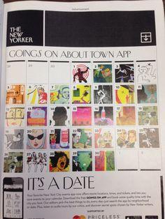 Fun calendar idea for chronological yearbook. #advertisement #newyorker #yearbook