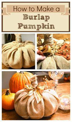 Hometalk :: How to Make a Burlap Pumpkin