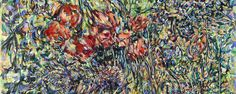 "Naomie Kremer, Garden State, 42"" x 72"" oil on linen, 2014"