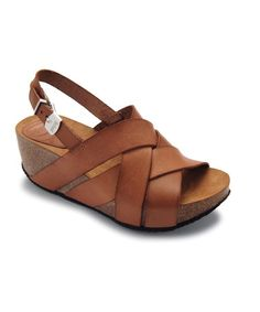 Take a look at this Brown Egilva Platform Sandal by Scholl on #zulily today!