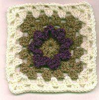 Flower granny square http://www.karpstyles.com/crochet/mary1.html