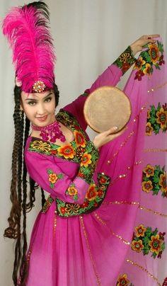 Uyghur girl in national costume
