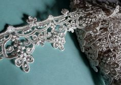 Lace Trim in Ivory Venise Lace for Bridal, Jewelry or Costume Design L 199 by MaryNotMartha on Etsy