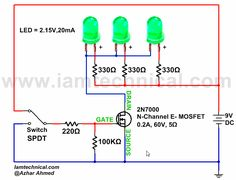 N-Channel E-Type MOSFET Switching LED's   IamTechnical.com
