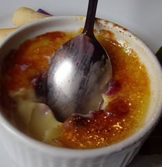 Huckleberry Creme Brulee
