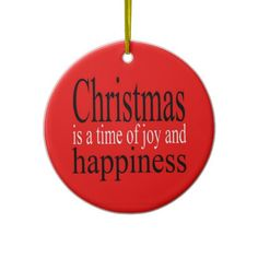 Christmas Quote Ornament