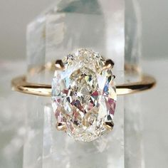 Engagement Rings : Trendy Diamond Rings : Oval Engagement Ring More #Rings youfashion.net/