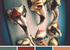 masks are little creepy, but the colors are lovely