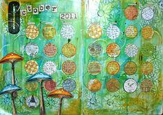 Art Calendar - October finished! by thekathrynwheel, via Flickr