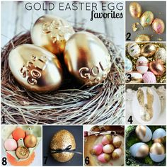 Decorating Easter Eggs in Gold